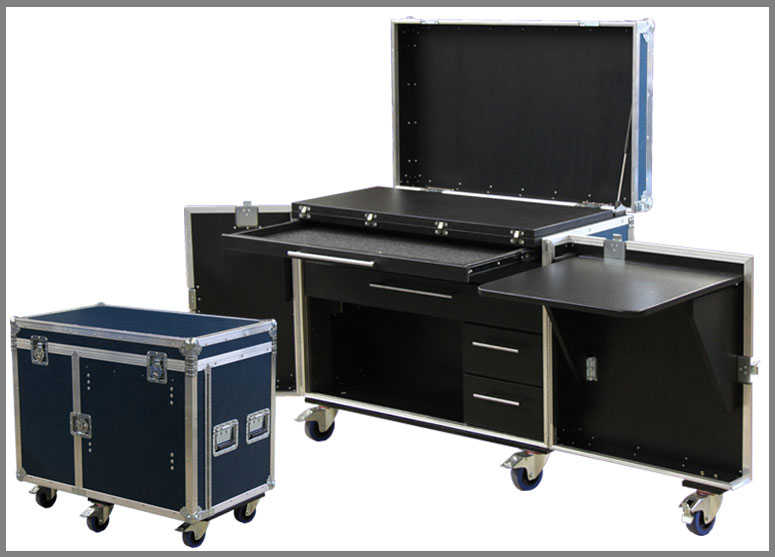 flightcase arbeitsplatz mycases. Black Bedroom Furniture Sets. Home Design Ideas